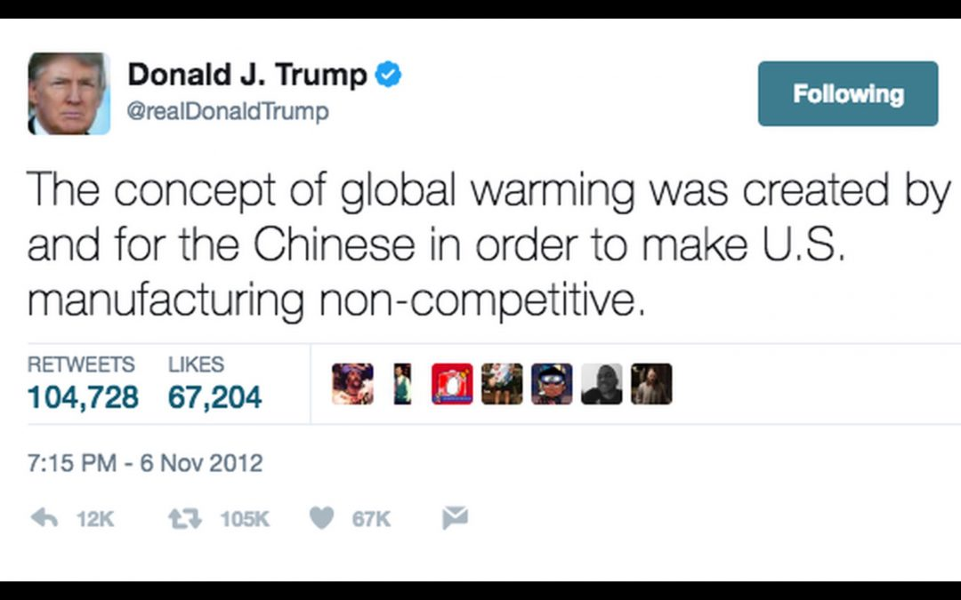 Is Trump right? Is climate change a Chinese hoax? Part 1.